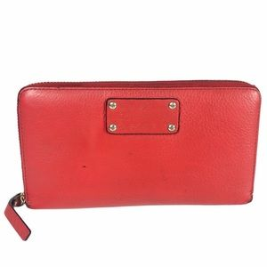 Kate Spade Neda Lacquer Red Full Zip Around Wallet